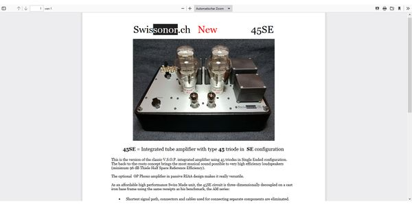 SWISSONOR TRIODE 45
