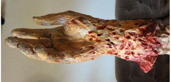 Halloween Horrorbrunnen abgetrennter Arm