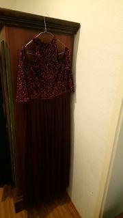 Abendkleid violett Größe 44 neu