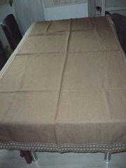 Tischdecke hellbraun 190cm lang und