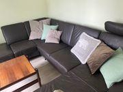 Couch Sofa Leder U Form
