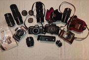 Konvolut aus 4 Kameras und