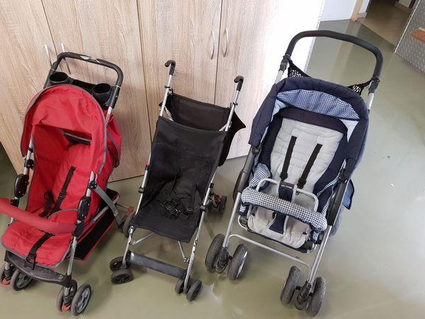 3 Kinderwagen zusammen für 45