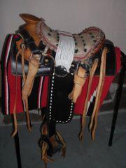 Kleiner Oldtimerwesternsattel Cowboysattel 12 Zoll