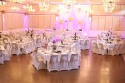 Verleih von Hochzeitsdeko Stuhlhussen Tischdecken