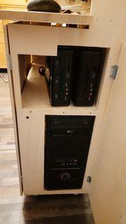 PC Rack mit 3 Rechner