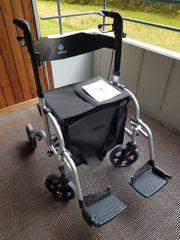 2in1 Rollator und Rollstuhl Kessler