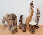 Afrikanisches Figuren Konvolut siehe Abbildungen