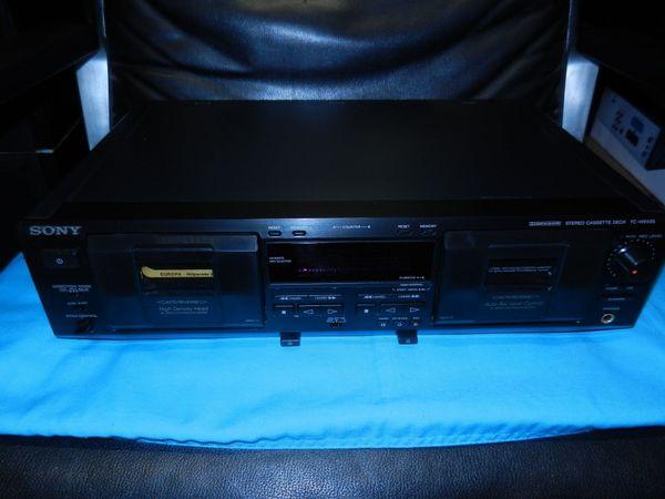 Sony TC-WE435 Doppel - Kassettendeck schwarz
