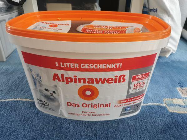 11Liter Alpinaweiß Wandfarbe Das Original