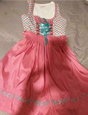 Dirndl mint-pink in Gr 40