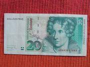 BANKNOTE 20 DM 1991 GELDSCHEIN