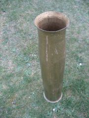 Kanonen-geschoß als Blumenvase Vase Patrone