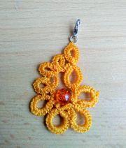 Kettenanhänger Anhänger Occhi-Spitze Blüte Orange
