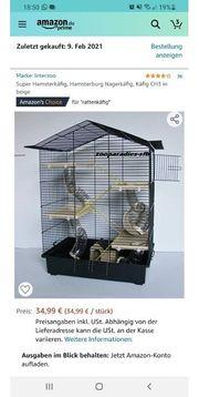 Nagelneuer Hamsterkäfig mit hochwertigem Streu