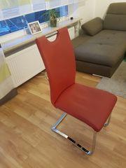 1 Schwingstuhl in rot