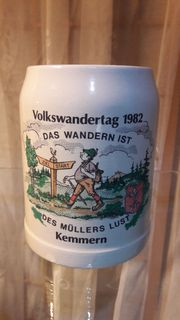 Volkswandertag Kemmern 1982 Bierkrug Bierseidel