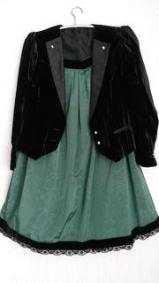 Orpulentes Kostüm Schwarz- Grün Gr