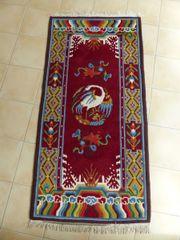 Tibetischer Teppich mit Kranich Motiv