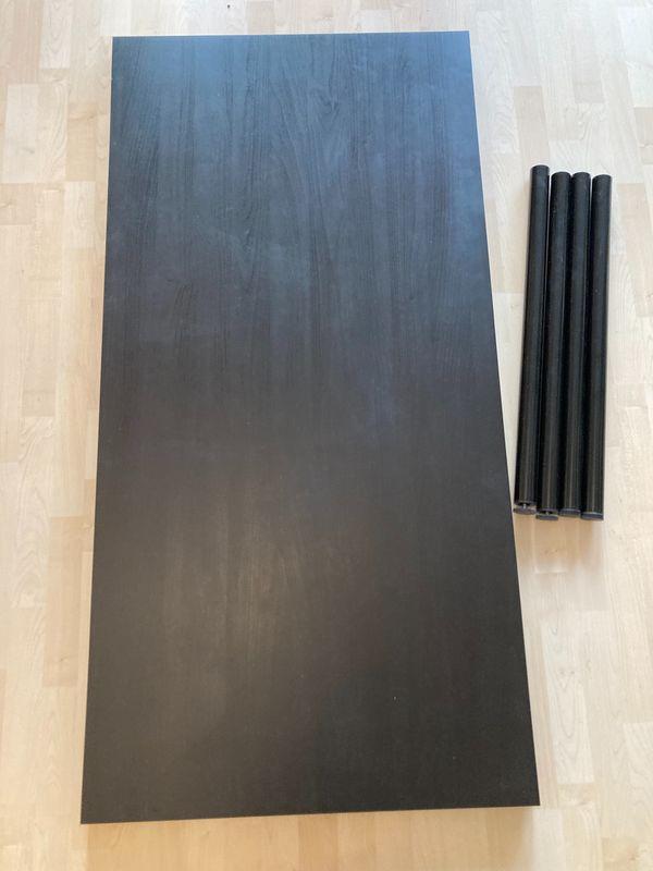 Schreibtisch Tischplatte 4 Metallfüße