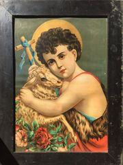 Unglaublich schöner antiker Kunstdruck Ecce
