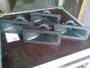 4 Stück Hochtonhornlautsprecher Piezosystem 188x80mm