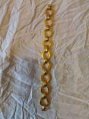 Damen-Uhrband goldfarben gebraucht Länge ca