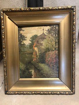 Gemälde Garten mit Rahmen