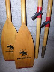 Paar Holzruder für METZELER Schlauchboot