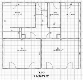 Sonnige 3-Zi-Wohnung 1.OG (93,9 m2) mit Kaminofen in Glauchau