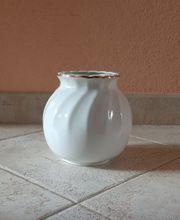 Apulum weiße Vase mit Goldrand