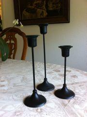 3 Kerzenhalter verschiedene Höhen