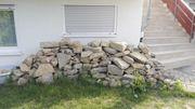Natursteine Kalksandsteine aus Mauerabbruch zu