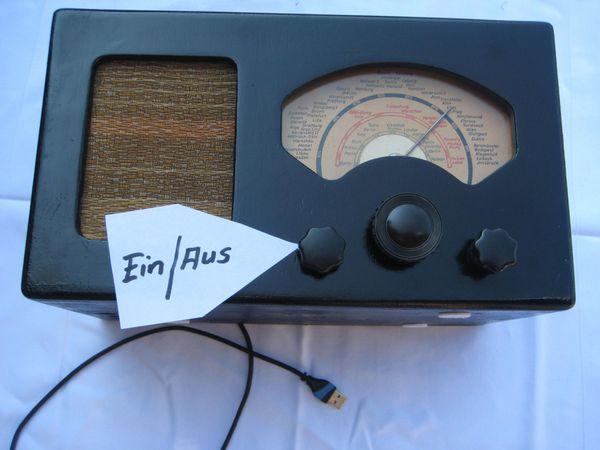 Röhrenradio , Vorkriegsradio mit neuer Technik , spielt super !