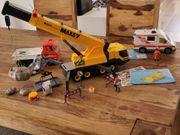 Playmobil Kombi Autokran Baustellenfahrzeug Krankenwagen