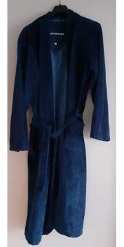 Herrenbademantel blau