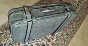 Koffer Reisekoffer grau gemustert 70