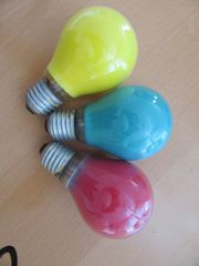 Glühlampen verschiedene Farben