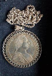 Maria-Theresia-Taler mit Silberkette