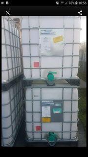aus der Lebensmittelproduktion IBC Container 1000 Liter neuwertig,gereinigt