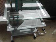 Computer-Schreibtisch Glas Metall Gebraucht