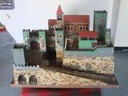 Alte Ritterburg aus Holz Handarbeit