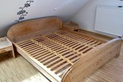 Überlänge Massivholz-Doppelbett 180 x 210cm