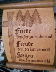 Schwarzwälder Holzbild geschnitzt aus vollem