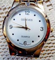 Flache elegante Marken-Armbanduhr Edelstahl Bicolor