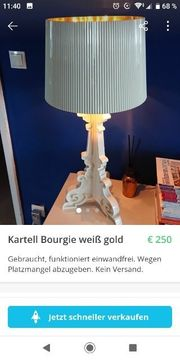 Lampe Kartell Bourgie weiß gold