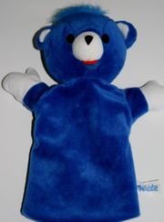 Blauer Bär - ca 28 cm - Hand-Puppe