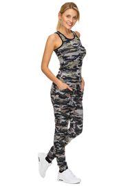 Damen Sportkleidung Set Camouflage Fitness