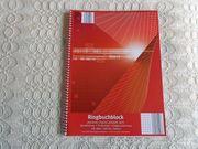 Ringbuchblock NEU 100 Blatt DIN