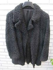 Pelz Persianerjacke elegant gearbeitet schwarz